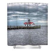 Roanoke Marshes Lighthouse, Manteo, North Carolina Shower Curtain