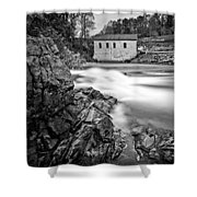 Roanoke River Flow Shower Curtain