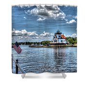 Roanoke River Lighthouse No. 2 Shower Curtain