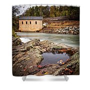 Roanoke River Niagra Rd Dam Shower Curtain
