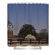Roanoke Virginia Springtime Cityscape Shower Curtain