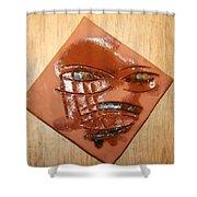 Roar - Tile Shower Curtain