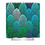 Roaring 20's Turquoise Shower Curtain