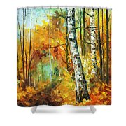 Roaring Birch  Shower Curtain