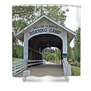 Roaring Camp Covered Bridge Shower Curtain