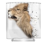 Roaring Lion No 04 Shower Curtain