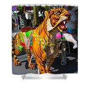 Roaring Tiger Ride Shower Curtain