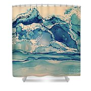 Roaring Waves Shower Curtain