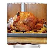 Roast Turkey Shower Curtain