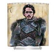 Robb Stark Shower Curtain by Denise H Cooperman