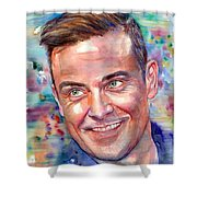 Robbie Williams Portrait Shower Curtain
