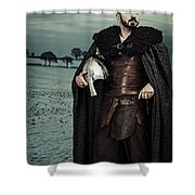 Robed Viking With Helmet Shower Curtain