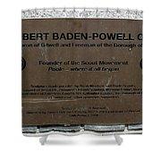 Robert Baden-powell Plaque Shower Curtain