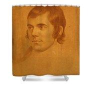 Robert Burns. Poet Shower Curtain