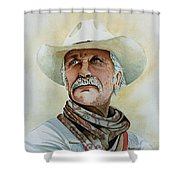Robert Duvall As Augustus Mccrae In Lonesome Dove Shower Curtain