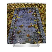 Robert Frosts Grave Shower Curtain