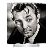Robert Mitchum Hollywood Actor Shower Curtain