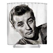 Robert Mitchum, Vintage Actor Shower Curtain