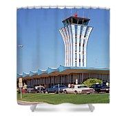 Robert Mueller Municipal Airport And Control Tower, Austin, Texas Shower Curtain