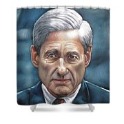 Robert Mueller Portrait , Head Of The Special Counsel Investigation Shower Curtain