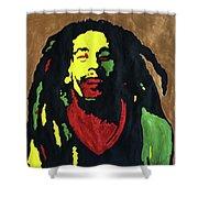 Robert Nesta Marley Shower Curtain