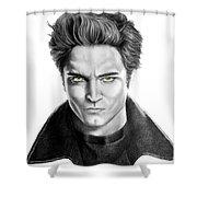 Robert Pattinson - Twilight's Edward Shower Curtain