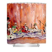 Robert Plant And Jimmy Page In Morocco Shower Curtain