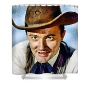 Robert Vaughn, Vintage Actor Shower Curtain