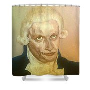 Robespierre Frowns  Shower Curtain