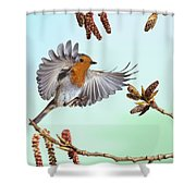 Robin And Poplar Shower Curtain