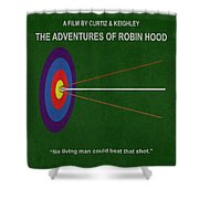 Robin Hood Movie Poster Shower Curtain