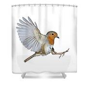 Robin Landing Shower Curtain