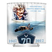 Robin Olds Breaking Barriers Shower Curtain