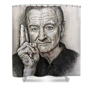 Robin Williams Shower Curtain