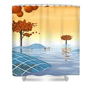 Robinia Natatalis Shower Curtain