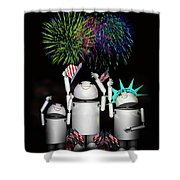 Robo-x9 And Family Celebrate Freedom Shower Curtain