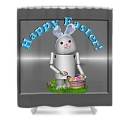 Robo-x9 The Easter Bunny Shower Curtain
