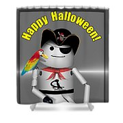 Robo-x9 Trick Or Treat Time Shower Curtain