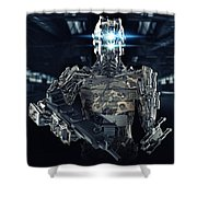 Robot Assassin Shower Curtain