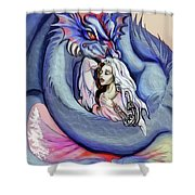 Robot Dragon Lady Shower Curtain