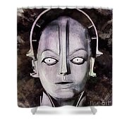 Robot From Metropolis Shower Curtain