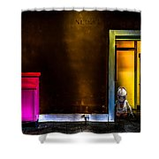 Robot In The Closet Shower Curtain