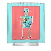 Robot 4 Shower Curtain