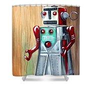 Robot Man Shower Curtain