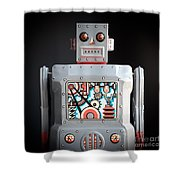 Robot R-1 Square Shower Curtain
