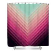 Robot Sunrise Shower Curtain
