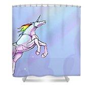 Robot Unicorn Attack Shower Curtain