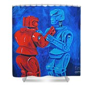 Robot Wars Shower Curtain