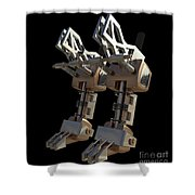 Robotic Limbs Shower Curtain