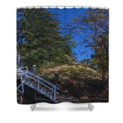 Roche Harbor Chapel In San Juan Island Shower Curtain